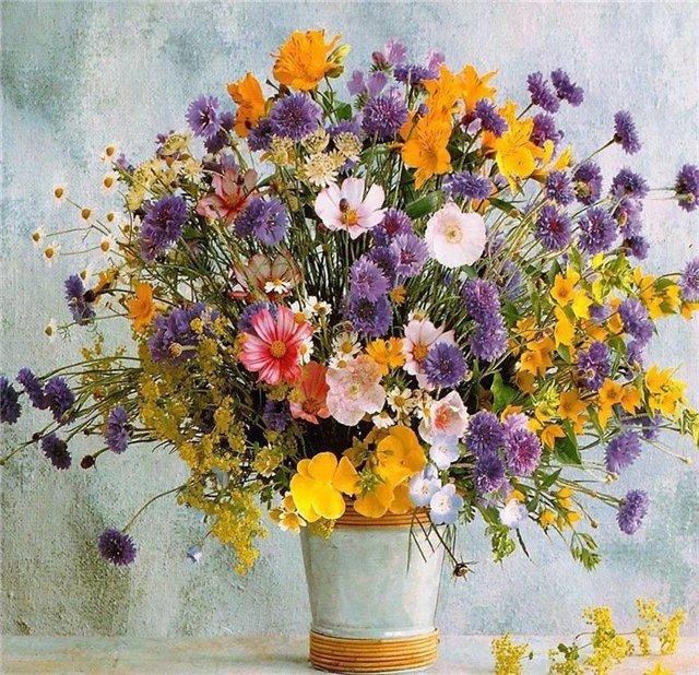 Букет полевых цветов фото youtube.
